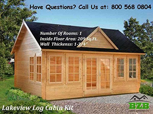 10 Tiny Houses on Amazon To Buy - BZB Cabins Lakeview Log Cabin Kit