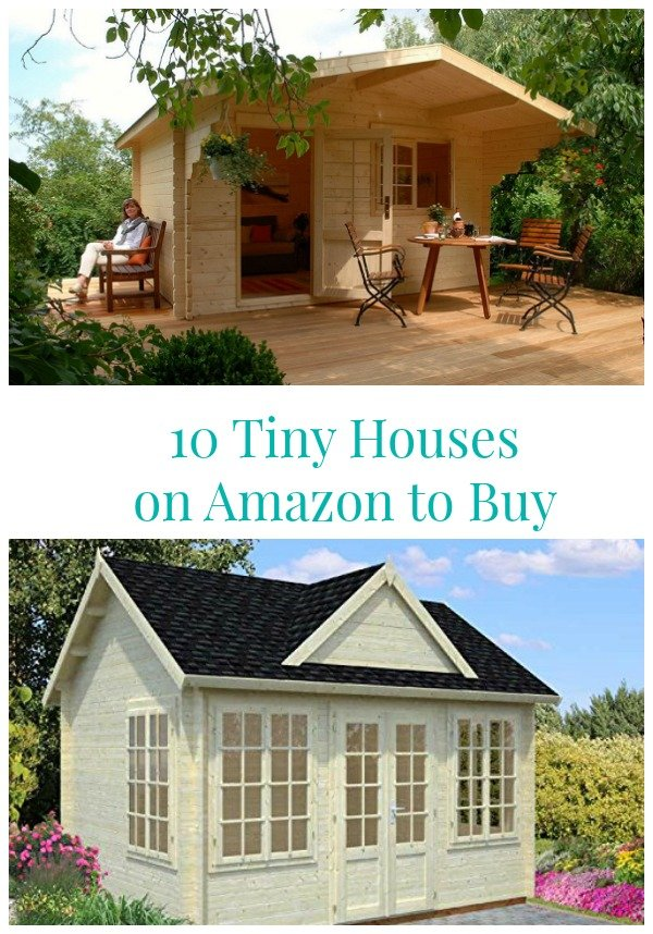 10 Tiny Houses on Amazon To Buy - Charming tiny homes can be a guest cottage, She Shed, Man Cave, Home Office and Vacation Cottage.