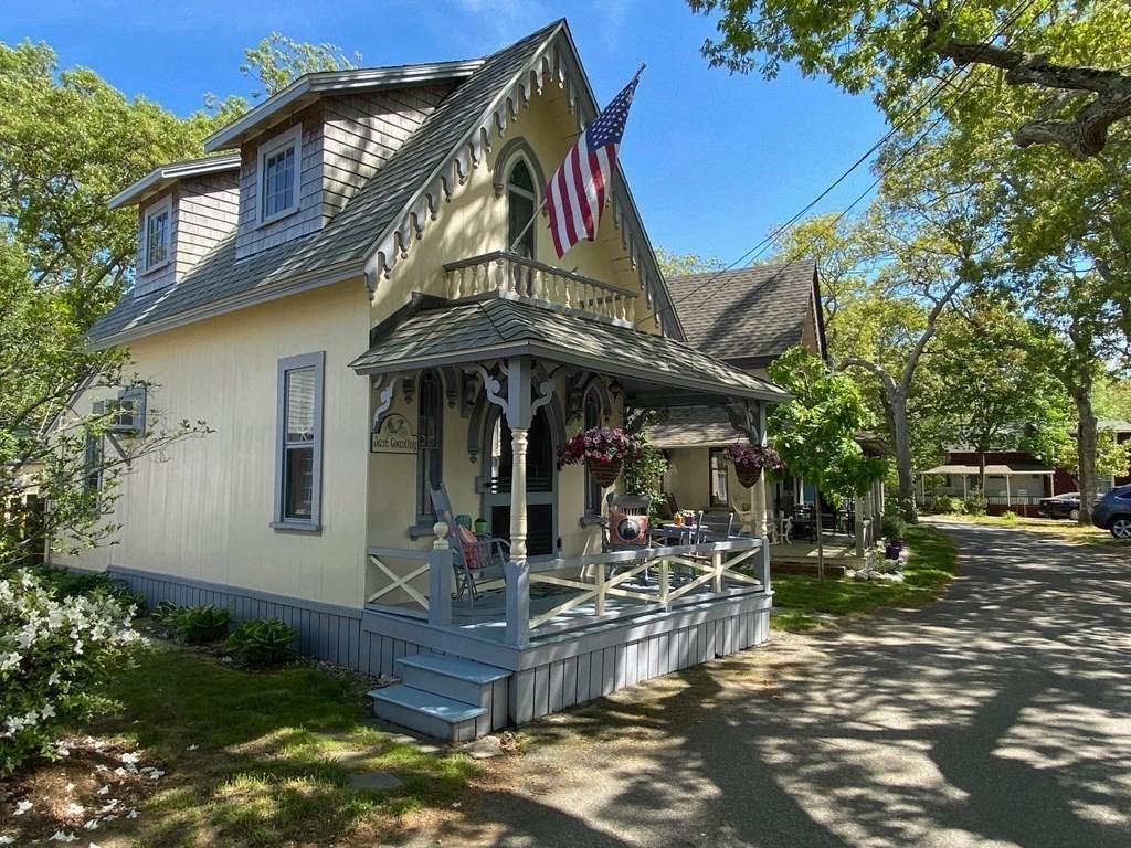 Martha Vineyard Cottage for sale is a historic Gingerbread cottage.
