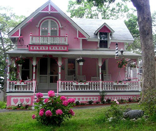 Pink Valentine's Day house