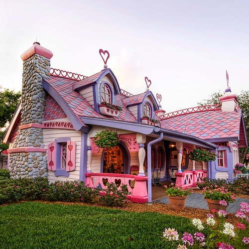 Valentine's day pink house