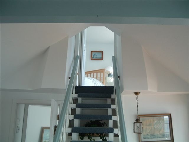 Stairs in Yarmouth MA house