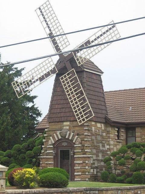 Windmill house in Wheaton IL