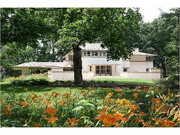 Gridley Residence in Batavia, IL is a Frank Lloyd Wright home