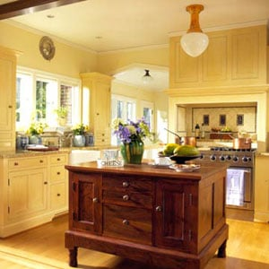 yellow kitchen cabinet image 2