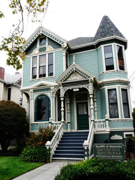 Turquoise Victorian House