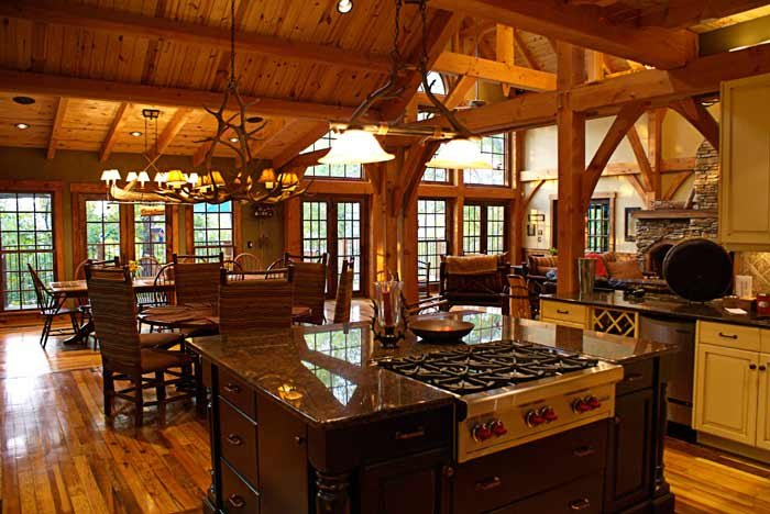 Craftsman Kitchens - is by Max Fulbright Designs and is from their house design called Camp Stone. Has a very warm feeling - Housekaboodle