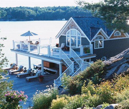 Charming boat house image
