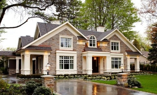 House Style Collection - Stone house with bold trim