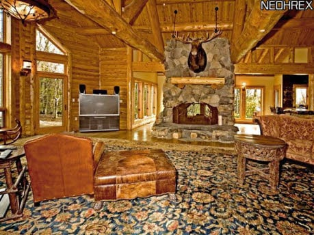Attrayant Log Cabin Family Room ...