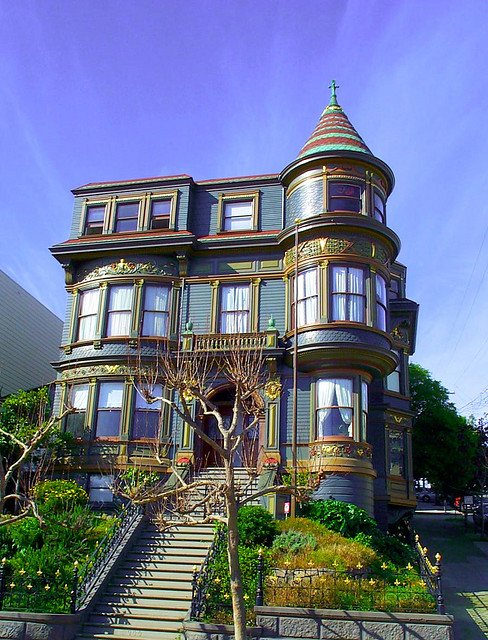 Victorian Houses Are Eye Candy - this one in San Francisco is full of character and intrigue