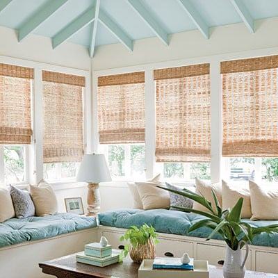 Turquoise sun room image