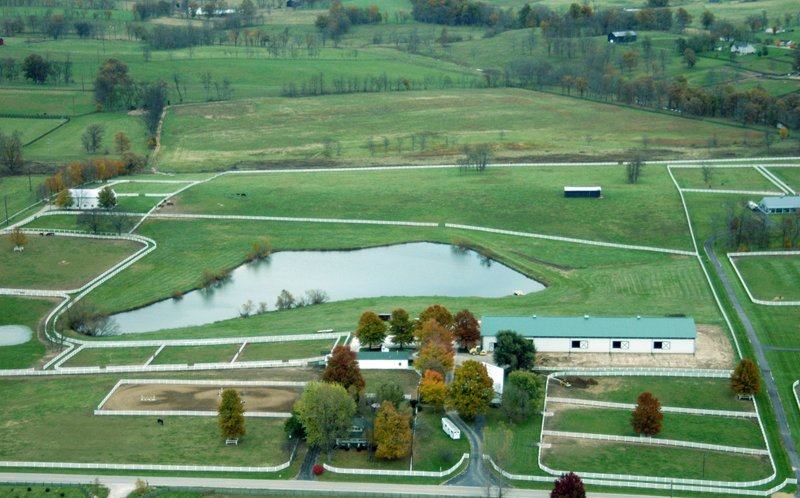 Kentucky farm ariel