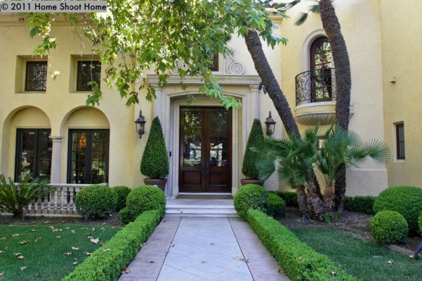 Romantic 1921 spanish style home in anaheim ca for Mediterranean style front doors