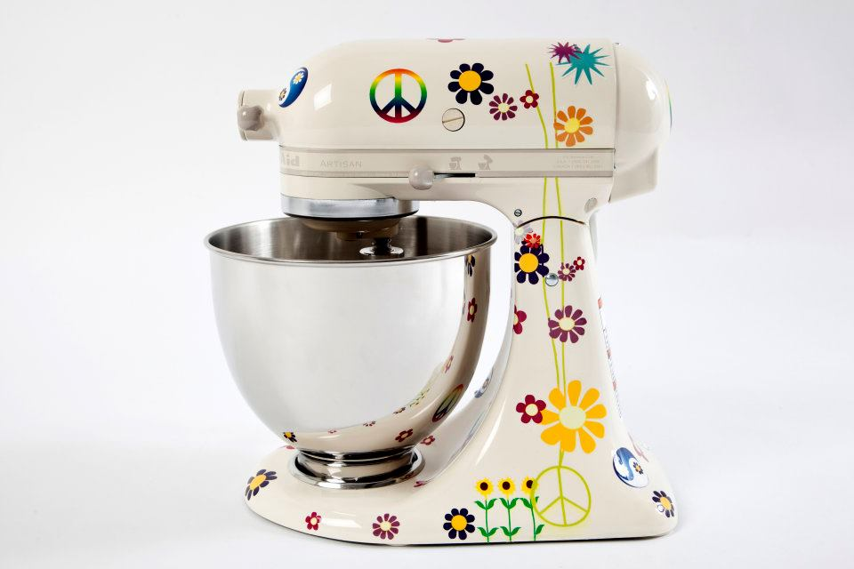 Peace and Love KitchenAid mixer