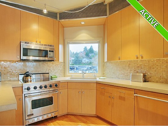 Kitchen in a houseboat