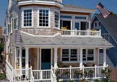 beach cottage in California