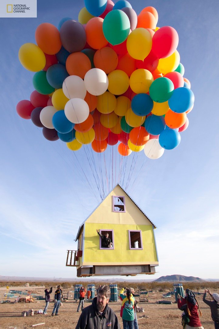 Real house that can fly experiment just like the UP movie house