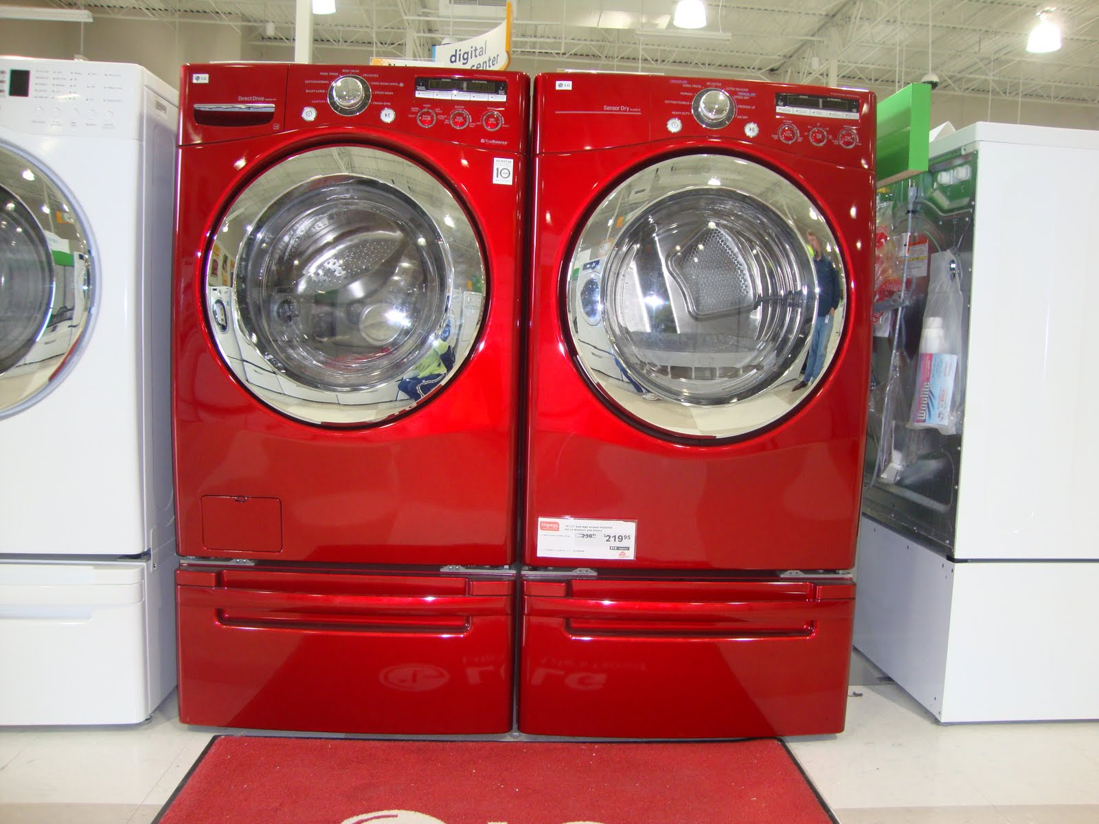 red washer & dryer