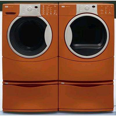 Sears burnt orange washer & dryer