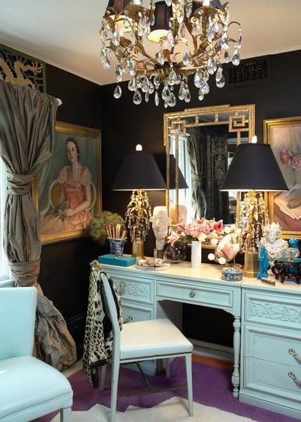 Lush turquoise vanity