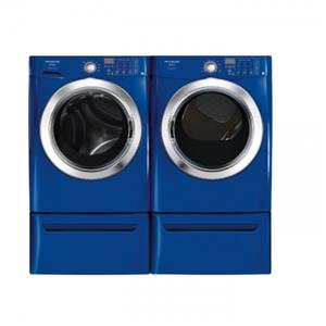 Blue washer & dryer