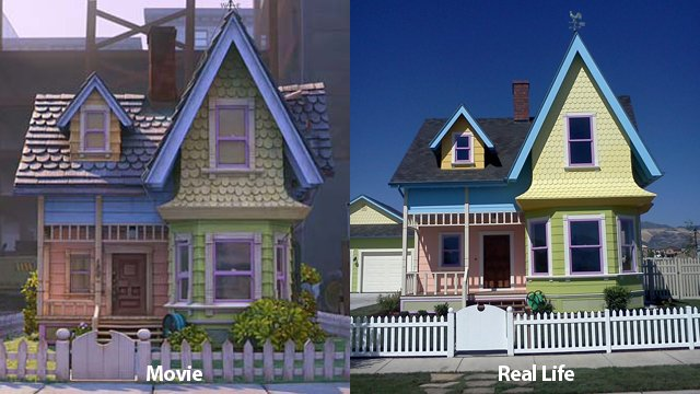 Real life Up Movie House replica in Harriman, Utah built by Bangerter Homes