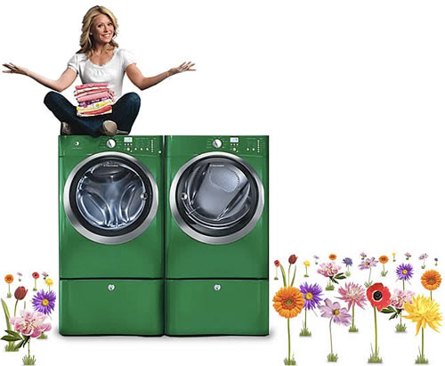 Electrolux kelly green washer and dryer