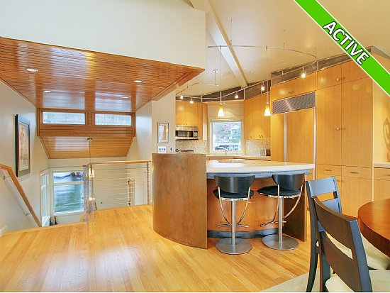view of kitchen in a houseboat