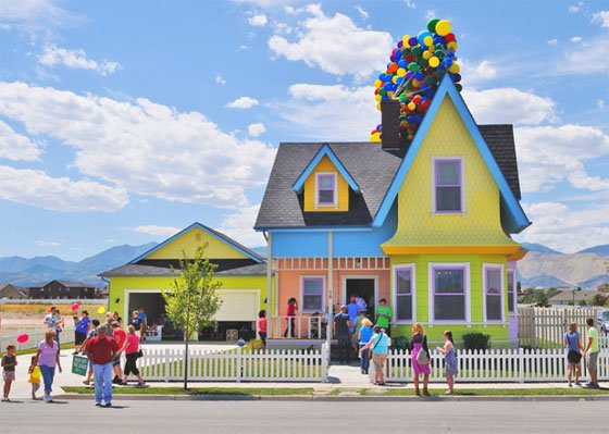 The Real UP movie house in Utah is a replica of the house in the movie