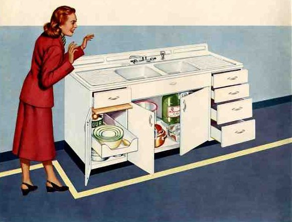 50's kitchen drainboard
