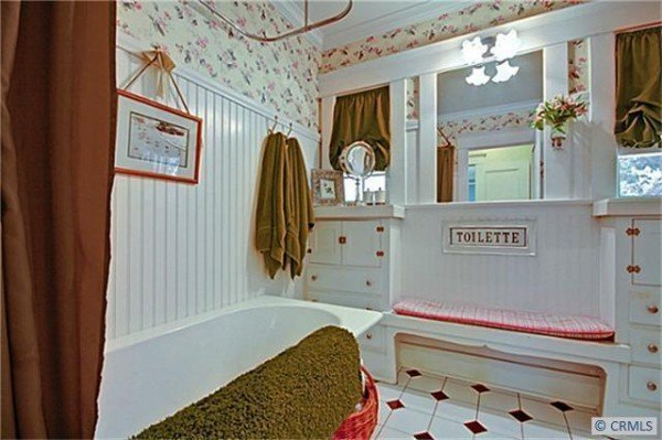 Fully restored bathroom in this bungalow for sale in california