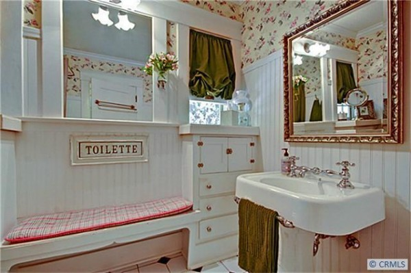 The bathroom is fully restored with originals including the claw foot tub seen below.