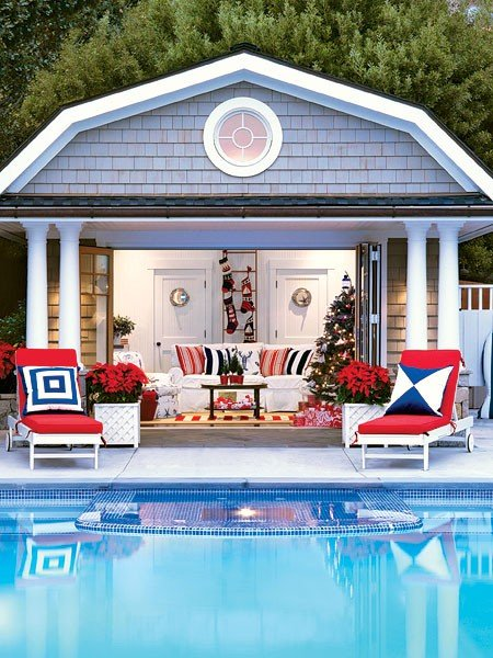 pool house decorating idea