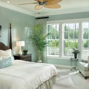 Tropical bedroom Arthur Rutenberg Homes