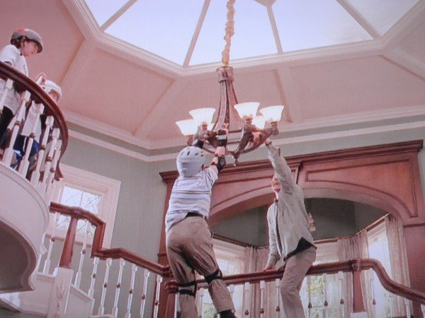 chandelier scene from cheaper by the dozen moive