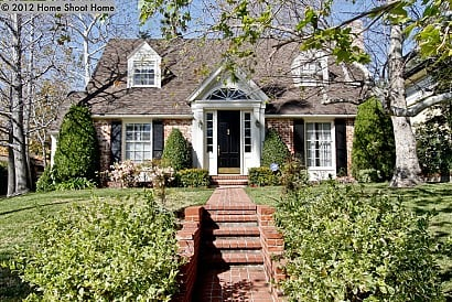 Curb appeal home charming for Two story cape cod