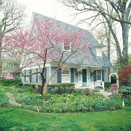 lovely spring front yard