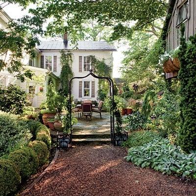 Shady garden retreat