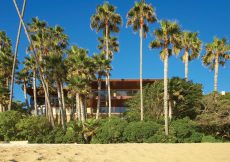 oceanfront view of beach house
