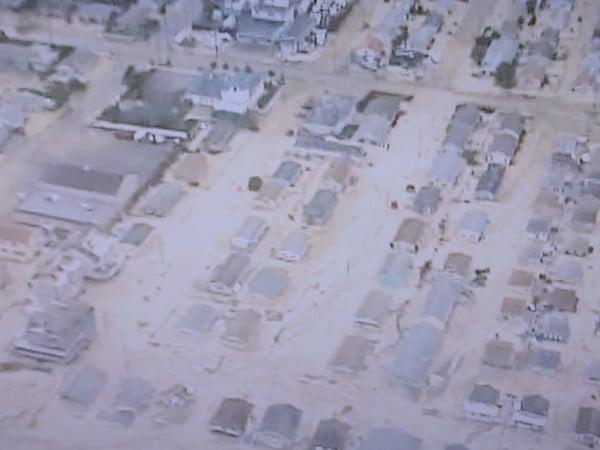 Hurricane Sandy streets of sand