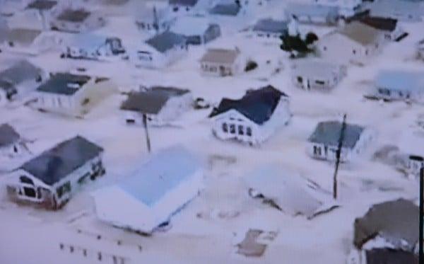 Sand damage Hurricane Sandy