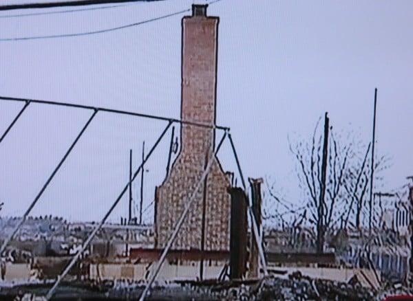 Hurricane Sandy fire remains
