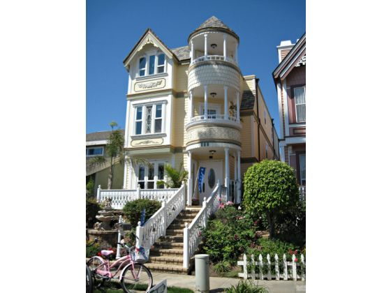 A victorian style house