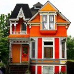orange victorian house