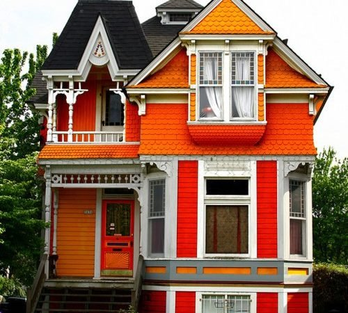 Orange houses exterior house colors for Historic house colors exterior