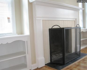 Colonial house fireplace
