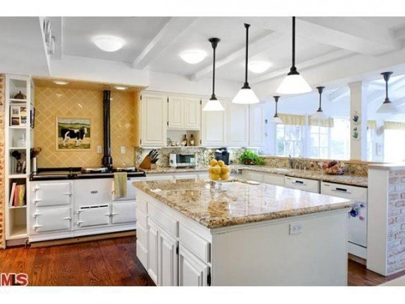 Kitchen in new house of Adam Levine