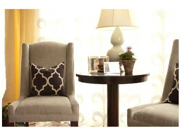 charming chairs and pillows