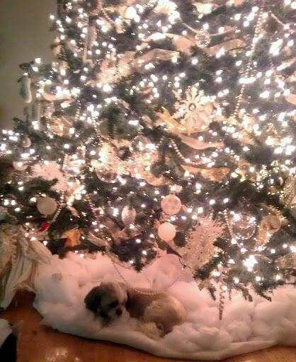 Christmas tree cloud skirt